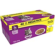 Whiskas 7+ Years Poultry Selection in Jelly Mega Pack, 40 x 100 g
