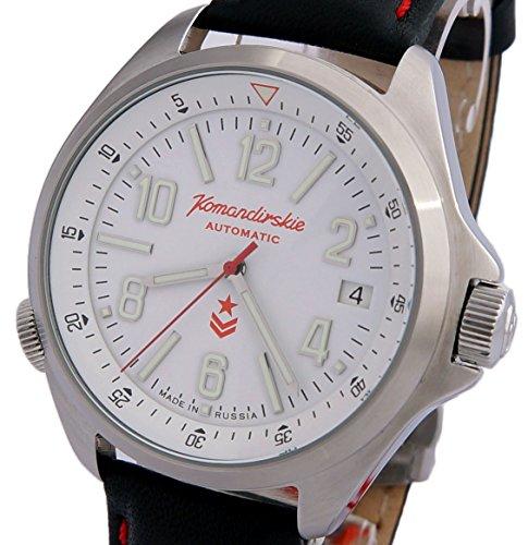 172473d0d2d5a Vostok Komandirskie K34 russe montre militaire Blanc 2416/470611