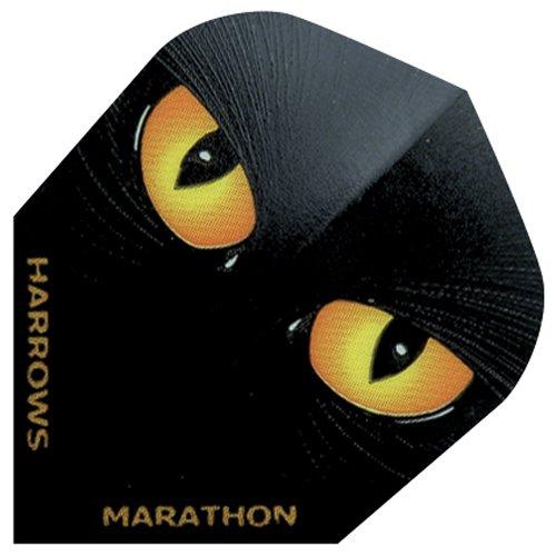 10x Packungen von 3Harrows Marathon Standard Form Dart Flights alle Designs RRP £12, Night Hawk, Einheitsgröße