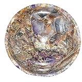 Crocon ametista intagliato a mano preziosa vassoio ciotola Devozionale Focus spirituale chakra detergente Metaphysica Devozionale Focus spirituale chakra detergente Metaphysical misura 2.7–7,6cm