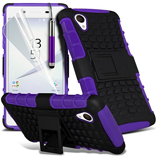 Case for <b>      Sony Xperia Z5 Premium / Sony Xperia Z5 Premium Dual    </b>     Case Universal Car Phone Holder Mount Cradle Dashboard & Windshield for iPhone y i -Tronixs Shock proof + Pen (Purple)