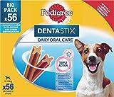 Pedigree Dentastix - Friandises pour petit chien, 56 bâtonnets à mâcher pour l'hygiène bucco-dentaire (1 boîte de 880 g / Total 56 Sticks)