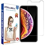 CELLBELL Tempered Glass Screen Protector with Installation Kit for Apple iPhone Xs Max