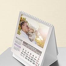 Calendarios personalizados sobremesa espiral 15 x 21 cm de 14 páginas - Imprime tu pack de 20 calendarios idénticos.