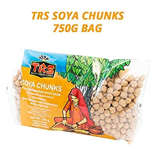 TRS SOYA Chunks | High in Protein | Versatile | Use in Place of Meat Ingredients | Un-Flavoured | TRS Brand | Vegan | Vegetarian | Gluten Free (GF) | 750g Bag