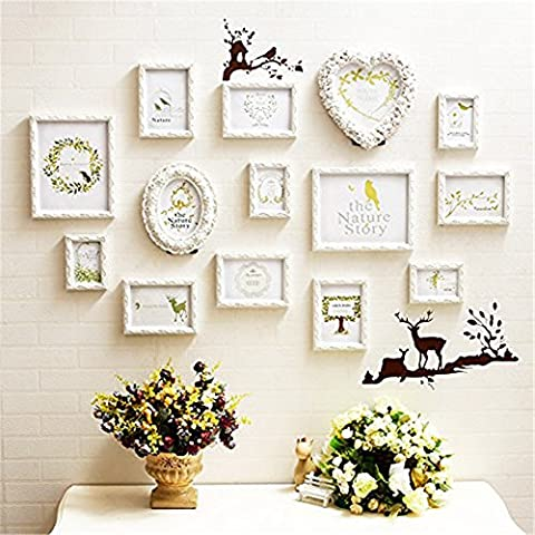 14Multi Picture Frame Set, Photo Frame, Wall Frame Set with High Quality Frames, Large photo frame wall set, Best Wall Decorations, Vintage Picture Frames