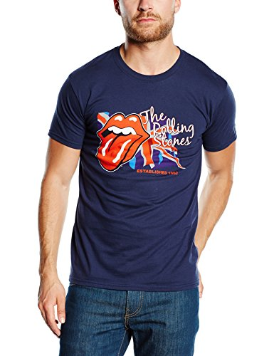 The Rolling Stone Herren T-Shirt, Blau (Navy), M -