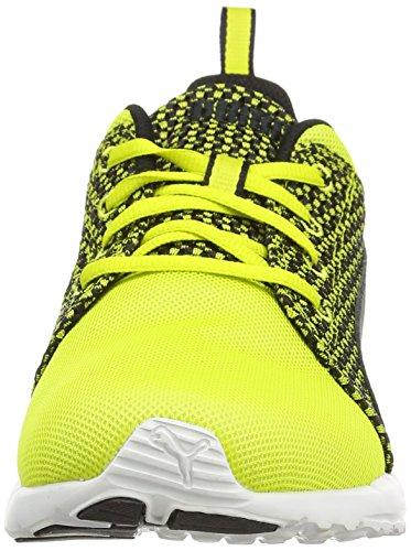 Puma Carson Runner Knit, Sneakers da Uomo Giallo (sulphur spring-black 02)