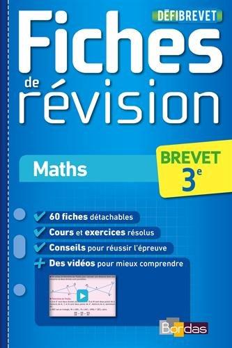 Maths 3e : Fiches de révision par Jean-Luc Romet