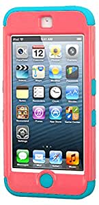 MyBat Cell Phone Case for Apple iPod Touch (5th & 6th Generation) - Retail Packaging - Red/Teal