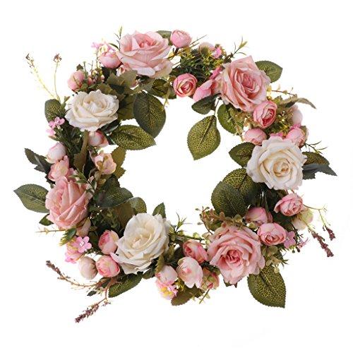 Künstliche Kränze Pfingstrose Blumengirlanden Handgemachte Haustür Hochzeit Dekore