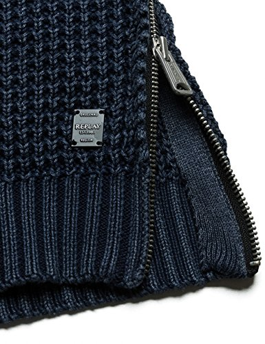 Replay Herren Pullover Blau (Dark Blue 500)