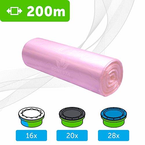 200 M.- ECO Recharge de poubelle à couches Sangenic | Angelcare | Litière Litter Locker II | Recharge de sacs Anti-Odeurs équivalente à 16 Recharges Sangenic | Non original mais 100 % compatible.