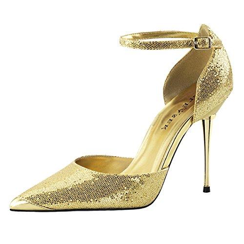Heels-Perfect Stiletto Pumps, Damen, Gold (Gold), Größe 44