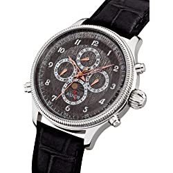 AUER Classic Collection BA-509-GyBL Automatic Mens Watch Classic Design