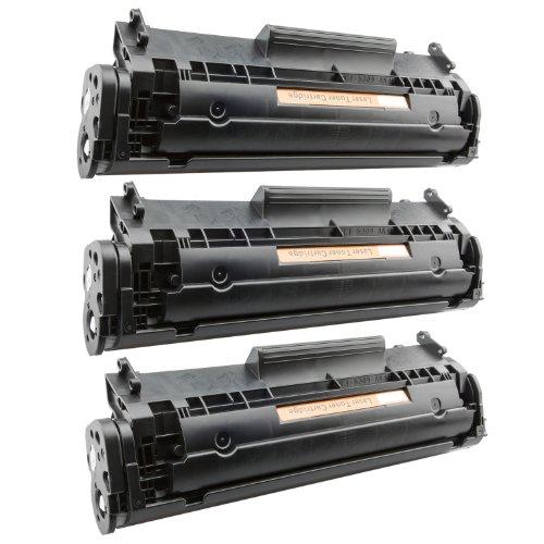 Tito-Express PlatinumSerie 3X Toner-Patrone XXL Schwarz für Canon FX-10 I-Sensys MF4650 MF4340D MF4350D MF4370DN MF4380DN - Canon Fx-10 Schwarz Patrone