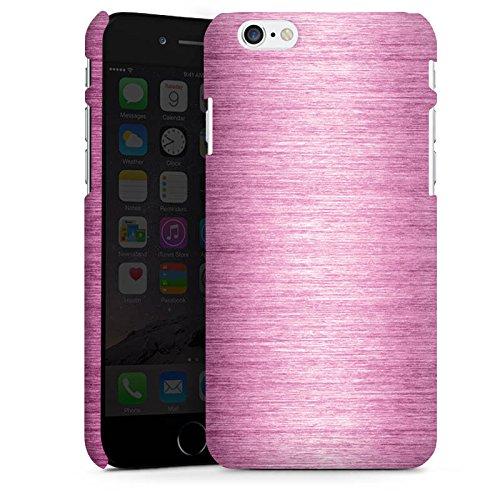 Apple iPhone X Silikon Hülle Case Schutzhülle Metal Look - Pink Metall Rosa Pink Premium Case matt