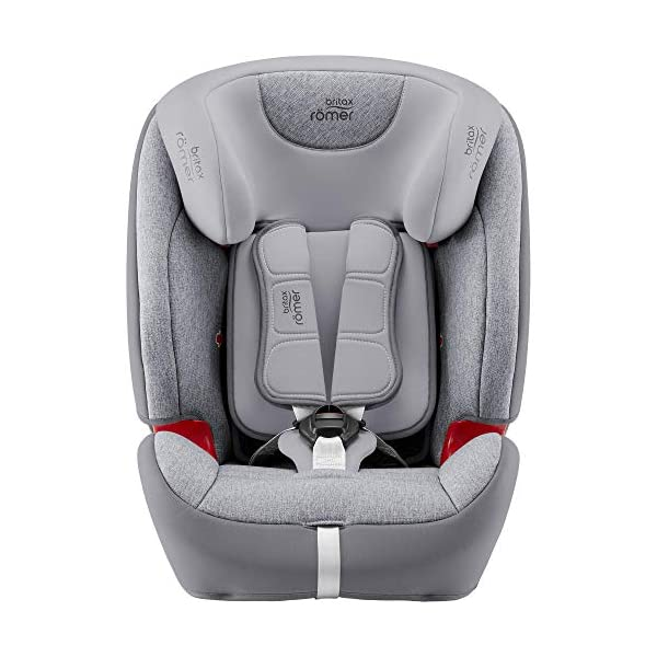 Britax Römer Evolva 1-2-3 Sl Sict Group 1-2-3 (9-36Kg) Car Seat  This EVOLVA 1-2-3 SL SICT will come in a Grey Marble design cover which is made from a more premium fabric with extra detailing Installation, ISOFIX and a 3-point seat belt, or 3-point seat belt only Enhanced Side Impact Protection (SICT) minimises the force of an impact in a side collision 3
