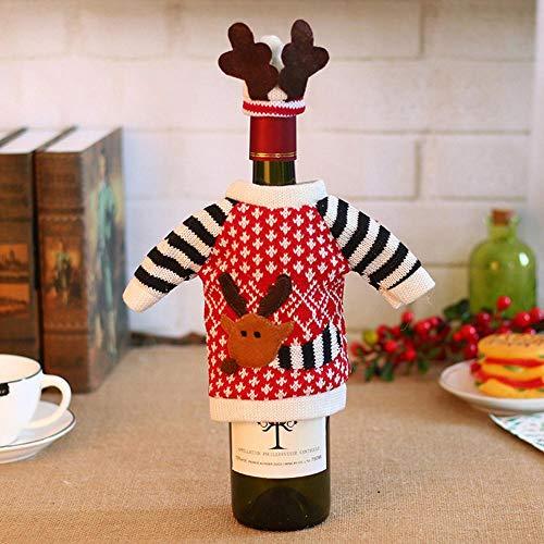ion Weihnachten Weihnachtsschmuck Weihnachten Elch Wein Flasche Set Wein Set Family Hotels Party Party Tisch De Coration ()