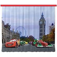Diseño de XXL wasserstelle FCP 6000 Disney de ambientes/cortina impresión fotográfica Cars, 280 x 245 cm, 2 teilig