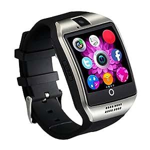 [Versione Aggiornata] Schermo Curvo Smartwatch CHEREEKI Smart Watch con cinturino morbido, Supporta SIM / TF Card, Telecamera remota, Pedometro, Push Message, Sveglia, MP3, Sonno Monitor, Anti-perso, Rubrica, SMS, WhatsApp, Facebook, Twitter e ect, per smartphone Android