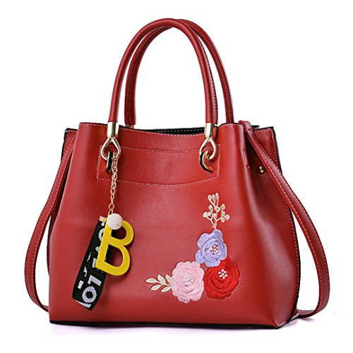 Taschen-Großhandel Handtaschen-Beutel-einfacher süßer Persönlichkeits-Trend-klassischer bequemer beiläufiger großzügiger Red 29x24x12cm