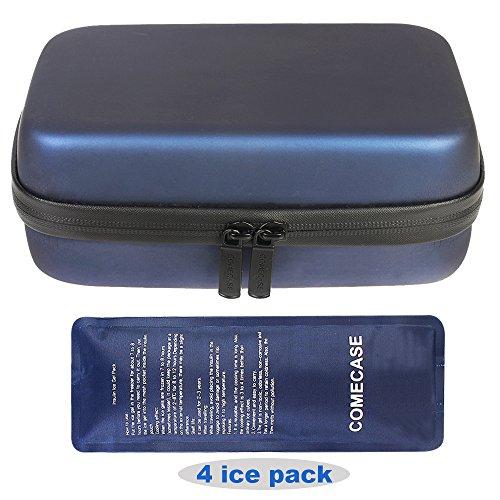 Comecase Portable Insulin Kühltasche/Medizinische Kühltasche/Diabetiker Tasche + 4 Kühlakkus