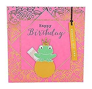 Depesche 8211.015Tarjeta de felicitación Glamour con Ornamento y Purpurina, cumpleaños