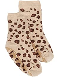 Country Kids Slipper Leopard Animal Print Socks