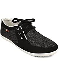CF_Better Deals   Synthetic  Black-White Color Casual Shoe  - B078JBL4MY