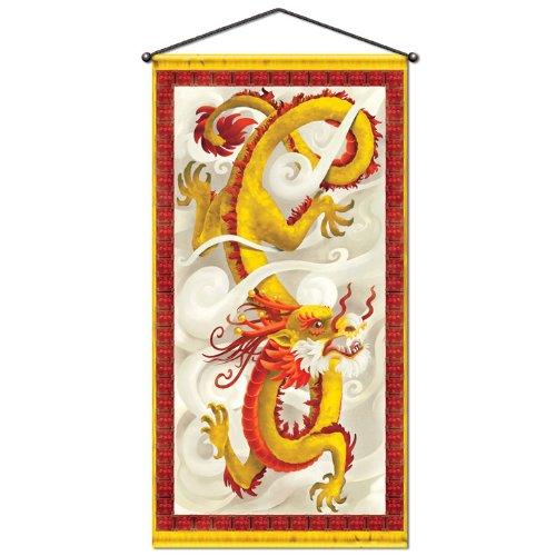 Beistle 57158Dragon Tür Wand Panel, 30Geschenkpapierrolle 150cm -