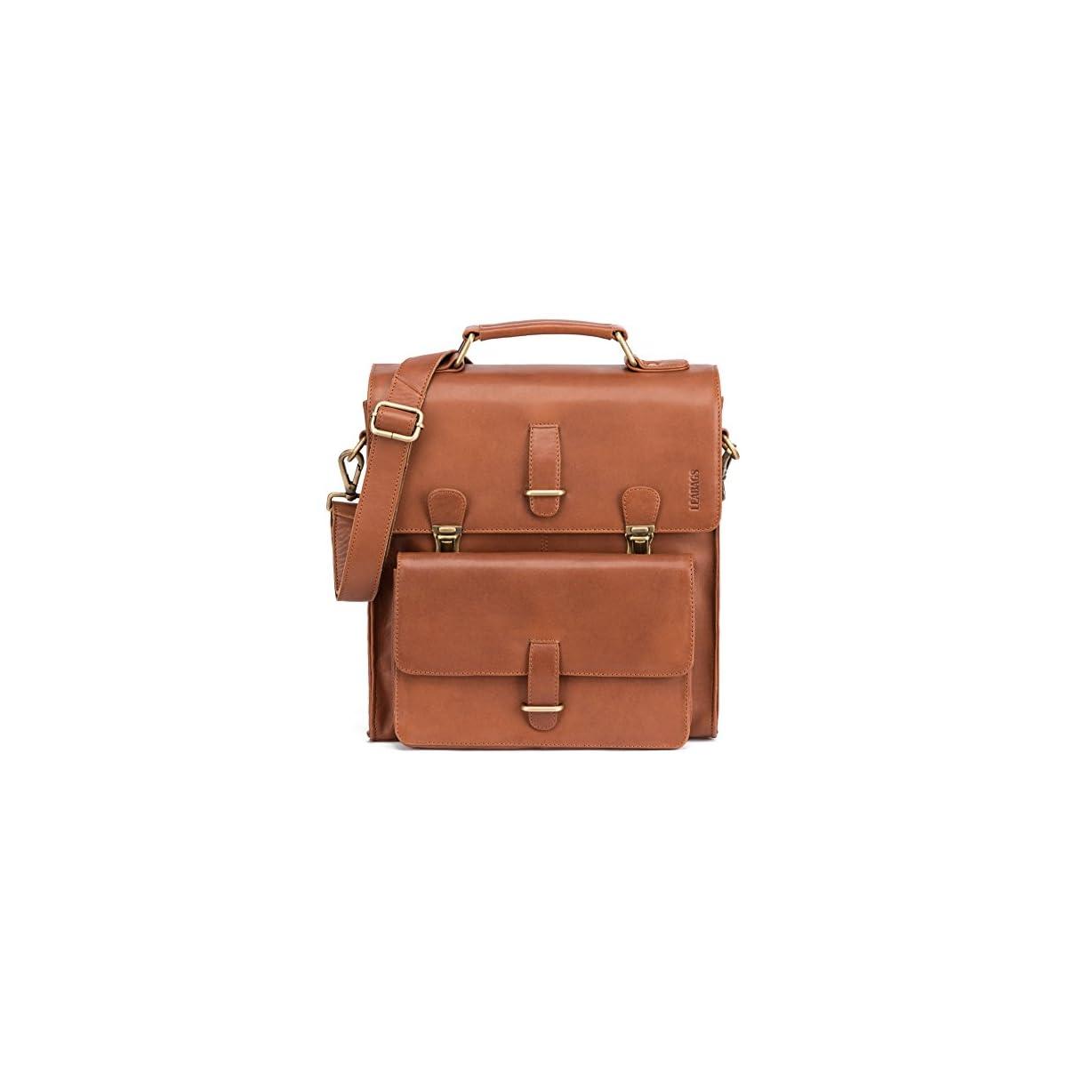 51FkSp%2BJZmL. SS1200  - LEABAGS Lille maletín de auténtico Cuero búfalo en el Estilo Vintage
