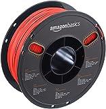 AmazonBasics - PLA 3D-Drucker Filament, 1,75 mm, durchscheinend Rot, 1 kg Spule