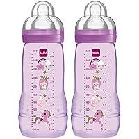 24 St/ück Gratis Sauger Gr/ö/ße 1 ab Geburt MAM Hygienet/ücher MAM Anti Colic Flasche 260 ml 6er Pack Girl-Mix inkl