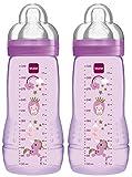 MAM 99950501 Easy Active Biberon da 330 ml, Confezione Doppia, età 4+ mesi, colore Pink