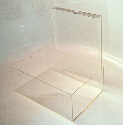 Schuhbox / Display Box mit Deckel für Sammler aus Acryl Glas, Aufbewahrungsbox, Sammelbox, Stapelbox, Groß, Transparent (ca. 13x22x33 cm) (Acryl-box)