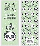 4er Set Indianer-Panda-Bär-Lesezeichen für Kinder (Mädchen oder Jungen, Kindergeburtstag-Mitgebsel, Tiere)