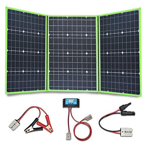 XINPUGUANG 150 W (3 x 50 W) faltbare Solarpaneele 12 V monokristalines Silikon flexible Solar-Ladegerät für 12 V Batterie Camper Canvan Camping Wandern Wohnmobil Laden