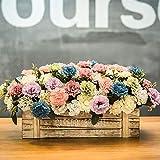 xgruisi Fiore Artificialeun Grande Ornamento (N ° 11 Colori) con Un Vaso nella Pentola per La Decorazione Domestica Che Fiorisce in 2 Pezzi