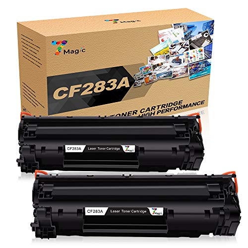 2-Pack CF283A Schwarz Toner, 7Magic Kompatibel für HP 83A CF283A Druckerpatrone für HP Laserjet Pro MFP M 127 FW 125 M125 NW 225 M125NW M127FW M127FN M201DW M201 M201N M225DW Drucker