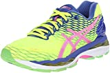 ASICS Women's Gel-Nimbus 18 Running Shoe, Flash Yellow/Pink Glow Blue, 5 M US