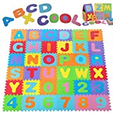 Deuba Tappeto Puzzle Bambini 1,92x1,92m | Nuovo Modello 6/2019 | Gomma Eva Resistente Isolante Lavabile Gioco per Bambini Tappeto da Gioco Tappetino