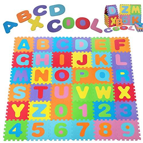 Deuba Puzzlematte 86 TLG. | Kälteschutz | abwaschbar | Modell 06/2019 | Kinderspielteppich Spielmatte Spielteppich Matte -
