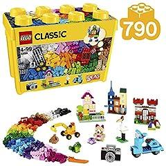 Idea Regalo - LEGO Classic Scatola Mattoncini Creativi Grande per Liberare la Tua Fantasia e Stimolare la Tua Creatività, per Bambini dai 4 Anni, 10698