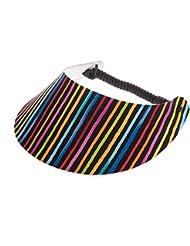"""XFORE visière soleil """"Bangor"""" casquette de golf sport tennis pour femmes, rayé, taille unique"""