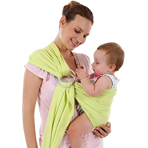 VENMO Baby Wrap Sling Neugeborene Stretchy Kleinkind Stillen Breathable Carrier Stretch Jungen Mädchen Baby Fotografie Requisiten Wickeln Garn Tuch Decke Neugeborenes Baby Fotografie Foto Requisiten (Green) (Pfund Baby-garn)