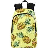 Interestprint Fruit Ttropical Pineapple Casual Backpack College School Bag Travel Daypack