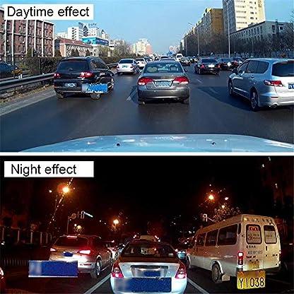 Roblue-Dashcam-Autokamera-1080P-Rckspiegel-Monitor-mit-Rckfahrkamera-Lens-Touchscreen-100-Weitwinkel-Kamera-Windschutzscheibe-Dash-Cam-Recorder-Dvr-Kamera-Schwarz