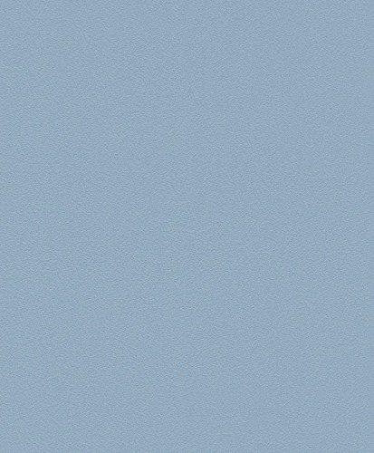 Vliestapete Uni Struktur Einfarbig blau Tapete Rasch Prego 740066
