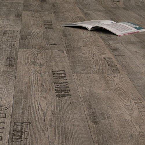 PVC Bodenbelag Rustikal Grau mit Aufdruck Breite 2 m (9,95 € p. m²)